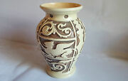 Burgess And Leigh Burleigh Ware Griffin Pottery Vase 28 Cm Tall - Excellent