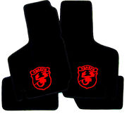Black Velours Floormats For Fiat 600 750 850 1000 Abarth 1957-197 Logo Red