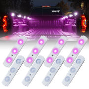 Xprite 8 Led Off Road Rock Light Pods Truck Bed Lighting Kit With Switch Purple