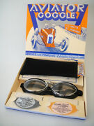 New Aviator 4600 Leather Face Goggles L Jeantet Motorcycle Classic Rider Racing