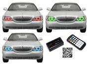 For Lincoln Town Car 05-11 Rgb Multi Color Bluetooth Led Halo Kit For Headlights