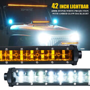 Xprite Offroad Sunrise Series 42 Double Row Led Work Light Bar Amber Backlight