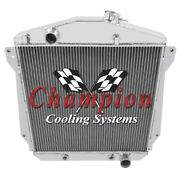 Champion 3 Row Aluminum Radiator For 1943 - 1948 Chevy Cars Chevy V8 Conversion