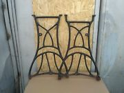 Industrial Table Cast Iron Base Furniture 28 In Vintage Retro