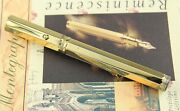 Montegrappa Reminiscence Smooth 925 Vermeil Large Fountain Pen - F - Rare