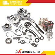 High Performance Timing Chain Kit Cover Water Pump Oil Pump Fit 85-95 Toyota 22r