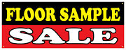 Floor Samples Banner Sale Furniture Discount Chairs Lamps Store Sign 48x120