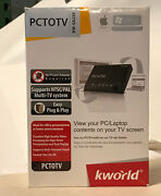 New Kworld Plustv Pc To Tv Converter Kw-sa235 View Pc/laptop Contents On Tv