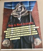 Rare Wwii 1942 Original Owi Poster 11 This Is Nazi Brutality Us Govt War