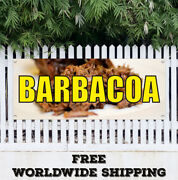 Banner Vinyl Barbacoa Advertising Sign Flag Food Mexican Pork Beef Goat Barbecue