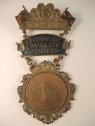 Rare Civil War Member Medal Of Forrest Cavalry Corps Made By Schwaab Milwakee