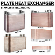 5x12and039and039 Brazed 20/30/50/80/100 Plate Heat Exchanger Outdoor Wood Furnace[1and039and039mpt]