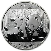 2010 Chinese Panda 1 Oz Silver Coin Brilliant Uncirculated