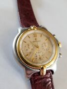 Bertolucci Pulchra Gold And Stainless New Ostrich Strap And Battery 94673 675805049
