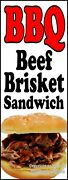 Bbq Beef Brisket Sandwich Decal Choose Your Size Food Truck Concession Sticker