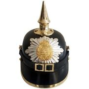 Wwi German Pickelhaube Prussian Leather Helmet Officer Militaria Collectible Sca