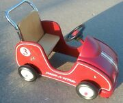 Radio Flyer Childrenand039s Classic Car 3 Ride-on Wooden And Plastic Collectible