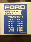 Ford Tractor 2000 3000 4000 5000 7000 Series Service Manual 1965-1975
