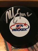 Mike Eruzione 1980 Usa Olympic Hockey Miracle On Ice Autographed Puck 2