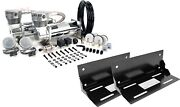 Viair Dual 480c Pewter Air Compressors For Train Horns With 2 Mounting Brackets