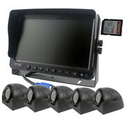 9 Monitor Dvr Recorder Car Rear View Camera System 5 X Side View Camera Kit