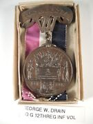 Civil War West Virginia For Liberty Medal To Drain And Box And Info On Him