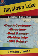 Raystown Lake Detailed Fishing Map, Gps Points, Waterproof, Depth Contours L399