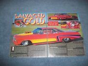 1962 Chevy Bel Air Impala Vintage Pro Mod Drag Car Article Salvaged Gold