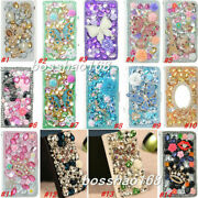 Bling Crystal Magnetic Diamonds Leather Flip Slots Wallet Phone Case Cover A1