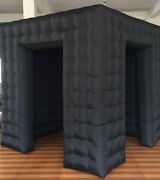 Inflatable Cube Photo Booth Air Tent Portable Photobooth 1/2 Doors With Blower