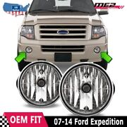 For Ford Expedition 07-14 Factory Bumper Replacement Fit Fog Lights Clear Lens