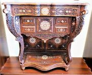 Console Table Hand-inlaid With Mother Of Pearl.