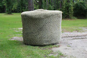 Horse Hay Round Bale 42 Net Feeder Save Eliminates Waste Fits 6and039 X 6and039 Bales