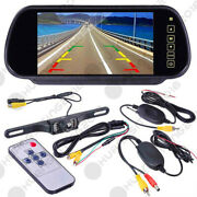 7 Lcd Mirror Monitor+wireless Reverse Rear View Backup Camera Night Vision Hst