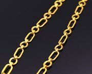 22 K Yellow Gold Figaro Style Link Chain Handmade Necklace Best Choice Jewelry