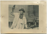 Lewis Hine Cowboy Of The Yards, Ny Central Railroad Lines, 1921 /vintage/ Lh062