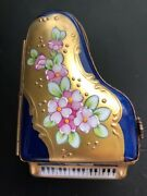 Authentic Limoges Grand Piano Miniature Great Collectible