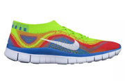 Nike Menand039s Free Flyknit+ Size 10 Rainbow Brand New Sock Multi Color Thermal