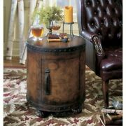 Beaumont Lane Round Wood Duffel End Table