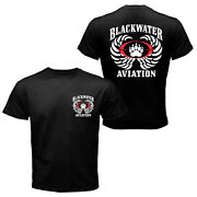 The Blackwater Aviation Worldwide Security Private Military Tactical T-shirt Tee