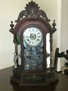 Antique Ansonia - Mantle Clock- Hand Carved
