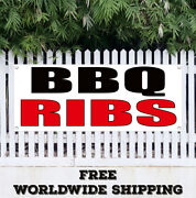 Banner Vinyl Bbq Ribs Advertising Sign Flag Handmade Delicious Beef Ribs Sauce