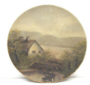 Lake House Hand Painted 8 Wood Hand Painted Plate Upstate Ny Family Camp Scene