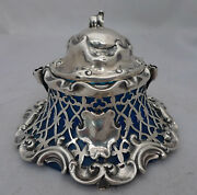 Victorian Silver Inkwell Charles Thomas And George Fox London 1843 A602017