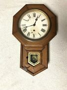 Antique Sessions Schoolhouse Wall Clock -hudson