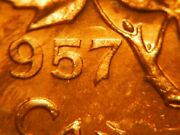 Hanging 7 + Double 57 1957 One Cent Choice Bu