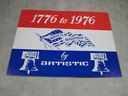 Vintage 1776 To 1976 Woven Flag Miniatures By Artistic Limited Edition Jacquard