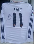 Gareth Bale Wales Signed 11 Real Madrid 2013-14 Adidas Jersey Shirt+proof Auto