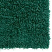 Linon New Flokati Hand Woven Wool 5and039x8and039 Rug In Emerald Green