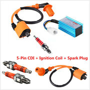 Racing 5-pins Cdi+ignition Coil+spark Plug For 50-160cc 4-stroke Atvs Dirt Bikes